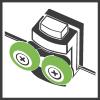 РОЛИК - Подшипниковые, двойные ролики с хромированной крышкой.
